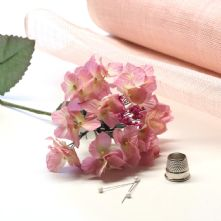 Pink and Ivory Hydrangea Flower Hat Trim